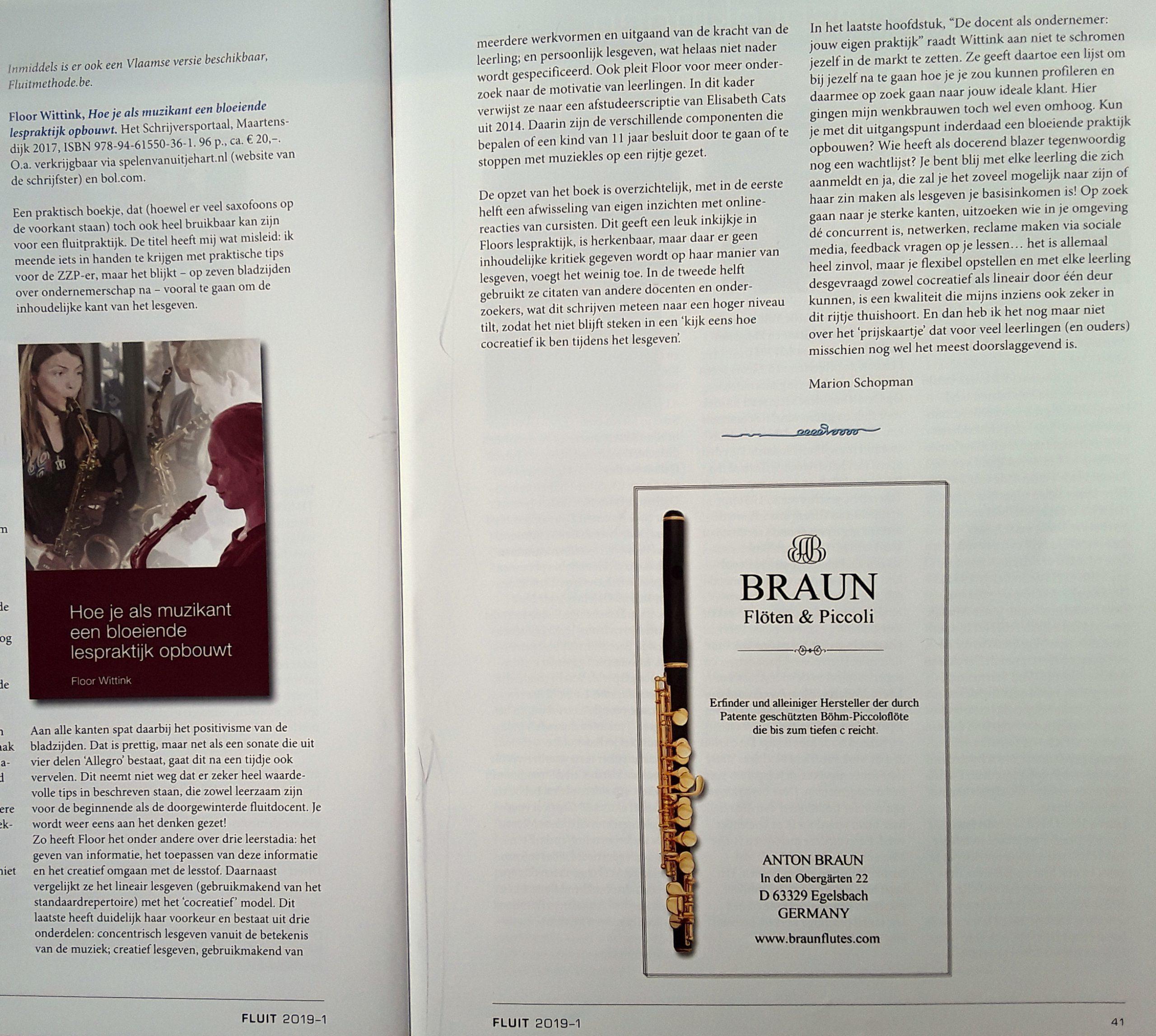 Boekbespreking in De Fluit
